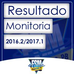 Resultado final do processo seletivo de Monitoria 2016.2/2017.1